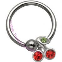 Cherries Ball closure Ring